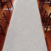 Le tapis d'église motif cœurs
