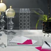 L'urne de mariage cube transparent