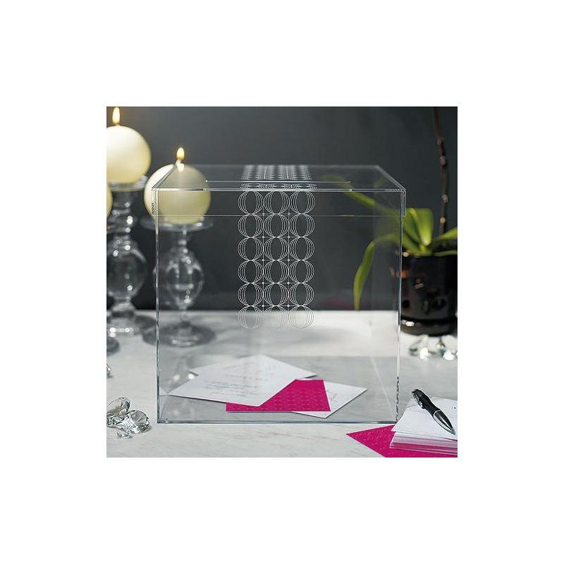 urne de mariage cube transparent. Black Bedroom Furniture Sets. Home Design Ideas