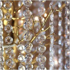 La guirlande de cristal acrylique