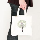 Le sac en coton personnalisé arbre