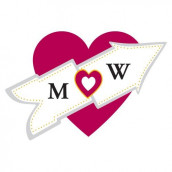 Le sticker personnalisé coeur fléché