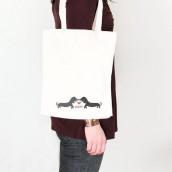 Le sac en coton personnalisé chien
