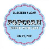 Le sticker personnalisé pop corn