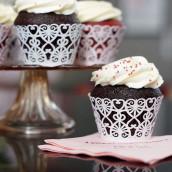 Les 12 socles en papier cupcake coeœur