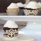 Les 12 socles en papier cupcake baroques