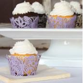 Les 12 socles en papier cupcake papillon
