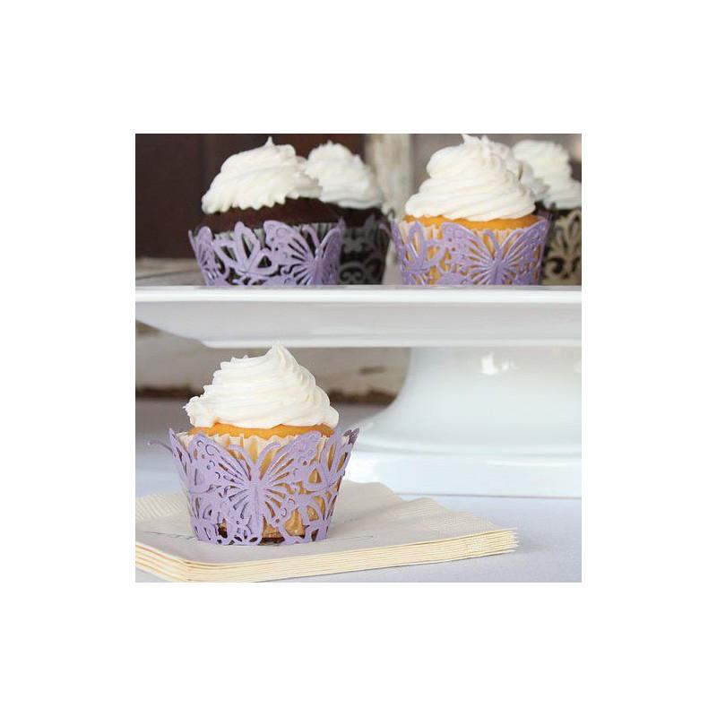 Socle papier pour cupcake papillon - Deco pour cupcake ...