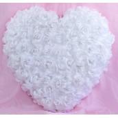 Le coeur de roses auto adhésif blanc