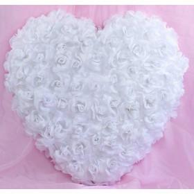 Le coeur de roses auto adhésif blanc ou rouge