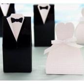 La boîte à dragées les mariés (en carton) par 10