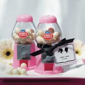 Le mini distributeur à boules de gum rose