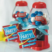 Le mini distributeur à boules de gum rouge