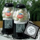 Le mini distributeur à boules de gum noir