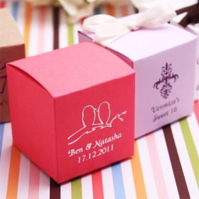 La boite à dragées cube personnalisée