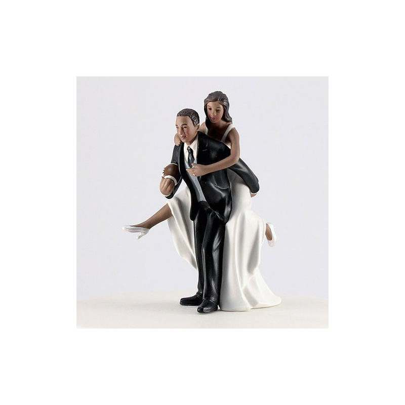 figurine mariage rugby noir pour gateau. Black Bedroom Furniture Sets. Home Design Ideas