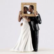 La figurine tableau parfait couple noir