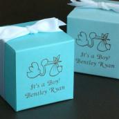 La boîte dragées baptême cube personnalisé