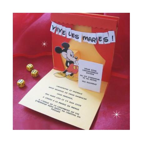 Favorit faire part disney mickey mouse RV14
