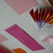 Décoration de mariage sur le thème de l'Asie : Plan de table kakemono