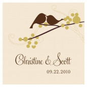 La carte personnalisée oiseaux d'amour