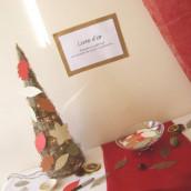 Décoration de mariage sur le thème de l'automne : livre d'or cône des bois