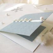 Décoration de mariage sur le thème de l'hiver : Faire-part hivernal