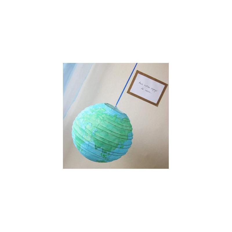 Urne mariage globe voyage for Decoration urne