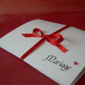 Faire part mariage parchemin roule
