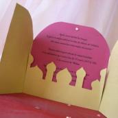 Décoration de mariage sur le thème oriental  : Faire-part oriental
