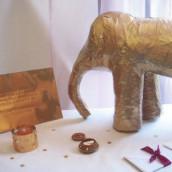 Décoration de mariage sur le thème oriental : l'urne éléphant