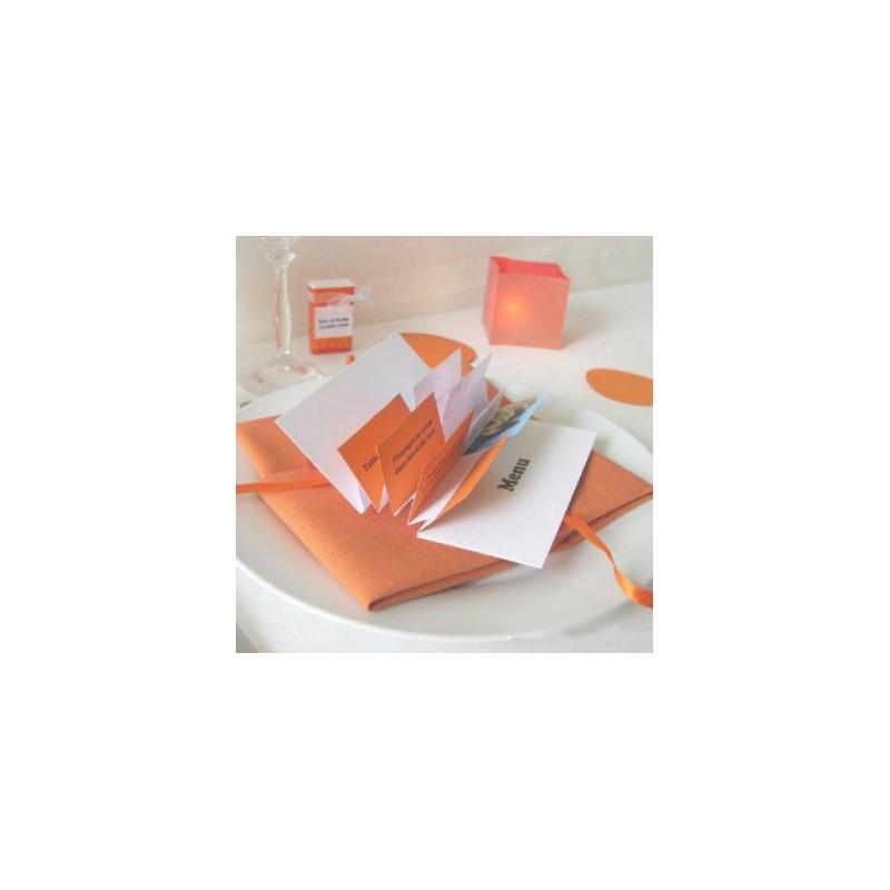 mariage pop orange menu flag diy. Black Bedroom Furniture Sets. Home Design Ideas