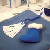 Diy deco noel - Deco table noel bleu argent ...