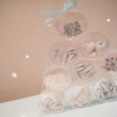 Décoration de table de Noël : dîner sous la neige