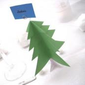 Décoration de table de Noël : marque place sapin