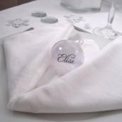Décorations de table de Noël blanc et argent