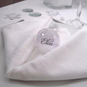 Décoration de table de Noël blanc et  argent