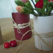 Esprit récup : des vases en canette aluminium