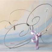 Décoration de mariage sur le thème des papillons : porte-alliance papillon