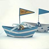Thème mariage mer : le porte alliances bateau