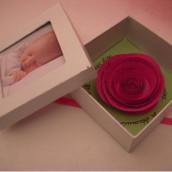 Faire-part de naissance : la boîte à la rose