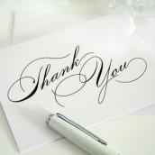 Textes de remerciements de mariage