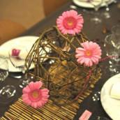 La décoration de Marlène : Thème du chocolat (chocolat et rose)
