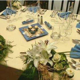 La décoration de Mélanie : la mer (bleu et blanc)