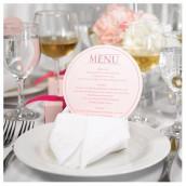 Idées pour les présentations de menu de mariage