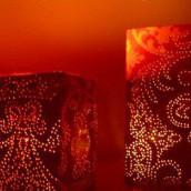 Esprit récup : des photophores en brique tetrapak