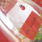 Esprit récup : un vase menu et un plan de table plein d'astuces