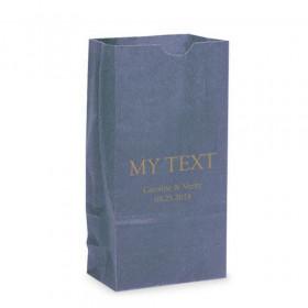 Le sac en papier texte personnalisé (par 25)