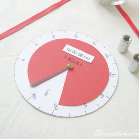 menu mariage moto compteur kilometrique. Black Bedroom Furniture Sets. Home Design Ideas
