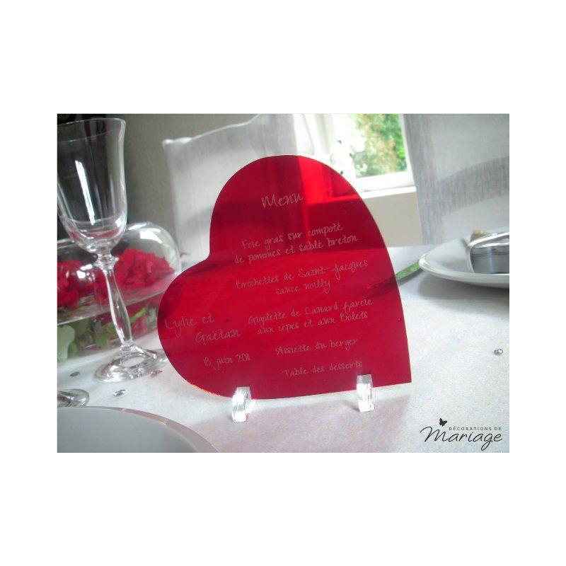 Coeur Rouge Pour Decoration